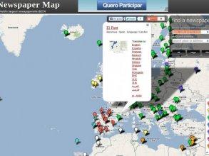 Mapa mundial de medios de comunicacíon