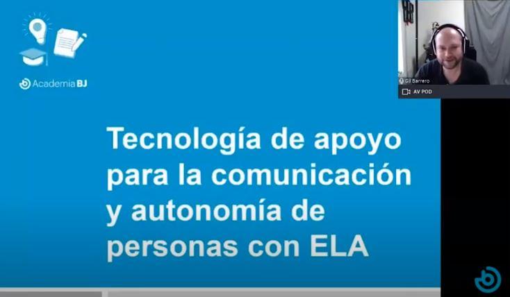 Tecnología de apoyo para personas con ELA
