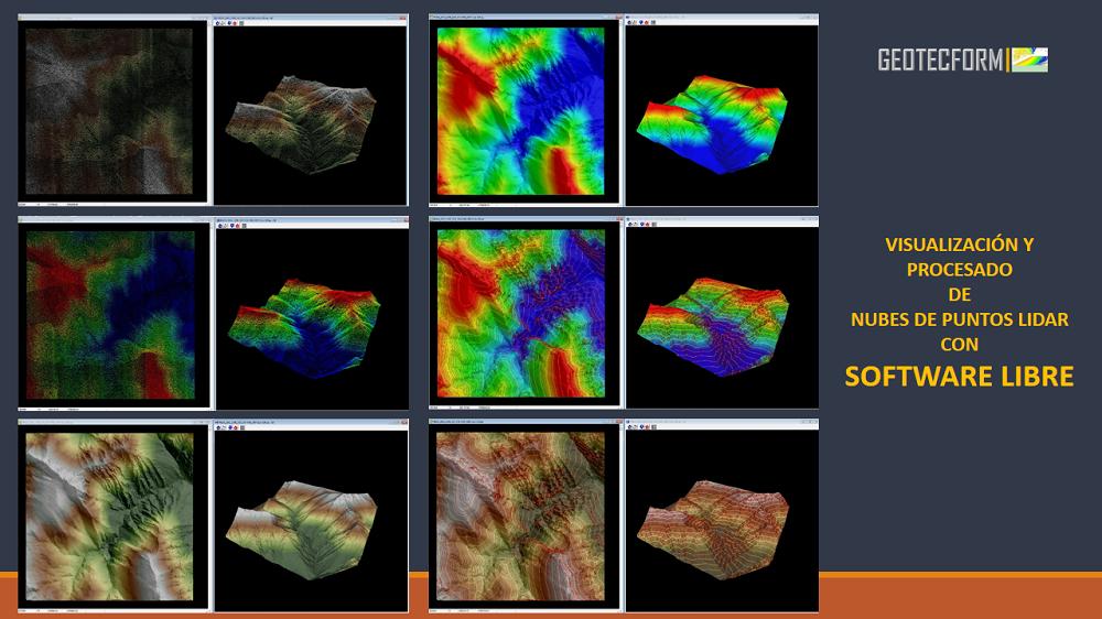 Visualización y procesado de nubes de puntos Lidar con Software Libre.